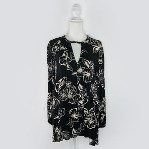 Free People Dresses - Free People Floral Foil Print Swing Tunic Dress XS